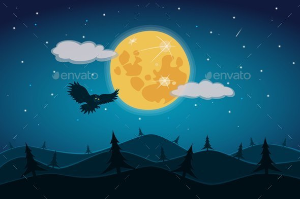 GraphicRiver Full Moon 10498020