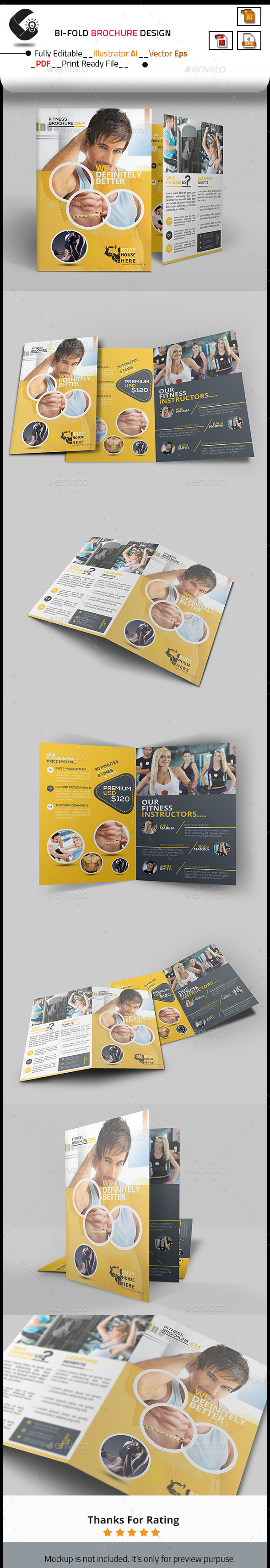 GraphicRiver Fitness Bi-Fold Brochure 10498263