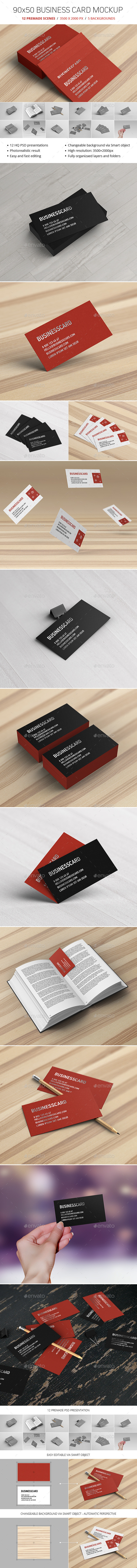 GraphicRiver Business Card Mockup 10498402