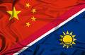 Waving flag of Namibia and China - PhotoDune Item for Sale