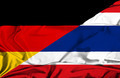 Waving flag of Thailand and Germany - PhotoDune Item for Sale
