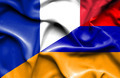 Waving flag of Armenia and France - PhotoDune Item for Sale