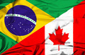 Waving flag of Canada and Brazil - PhotoDune Item for Sale