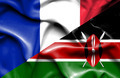 Waving flag of Kenya and France - PhotoDune Item for Sale