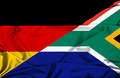 Waving flag of South Africa and Germany - PhotoDune Item for Sale