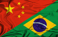Waving flag of Brazil and China - PhotoDune Item for Sale