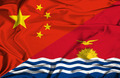 Waving flag of Kiribati and China - PhotoDune Item for Sale