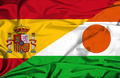 Waving flag of Niger and Spain - PhotoDune Item for Sale
