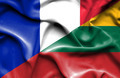 Waving flag of Lithuania and France - PhotoDune Item for Sale
