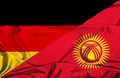 Waving flag of Kyrgyzstan and Germany - PhotoDune Item for Sale