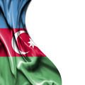 Azerbaijan waving satin flag isolated on white background - PhotoDune Item for Sale