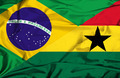 Waving flag of Ghana and Brazil - PhotoDune Item for Sale