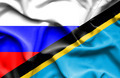 Waving flag of Tanzania and Russia - PhotoDune Item for Sale