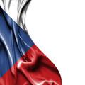 Czech Republic waving satin flag isolated on white background - PhotoDune Item for Sale