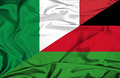 Waving flag of Malawi and Italy - PhotoDune Item for Sale