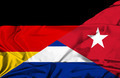 Waving flag of Cuba and Germany - PhotoDune Item for Sale