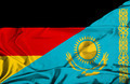 Waving flag of Kazakhstan and Germany - PhotoDune Item for Sale