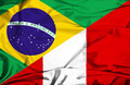 Waving flag of Peru and Brazil - PhotoDune Item for Sale