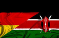 Waving flag of Kenya and Germany - PhotoDune Item for Sale