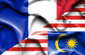 Waving flag of Malaysia and France - PhotoDune Item for Sale