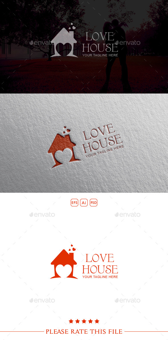 GraphicRiver Love House Logo 10498571