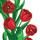 Red Tulips Wreath - GraphicRiver Item for Sale