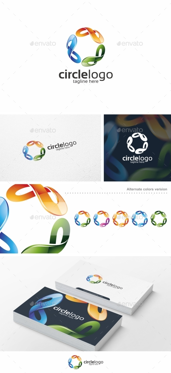 GraphicRiver Colorful Circle Vol 02 Logo Template 10498646