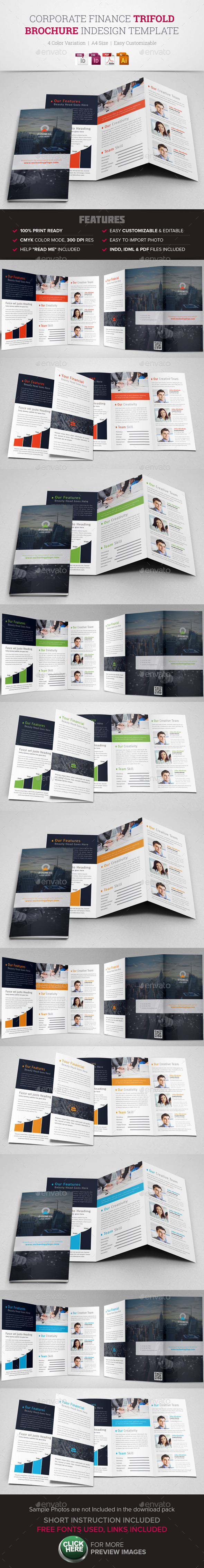 GraphicRiver Corporate Finance Trifold Brochure InDesign 10498649