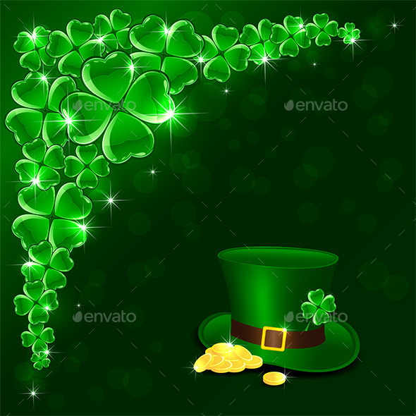 GraphicRiver Patricks Day Green Background 10498789