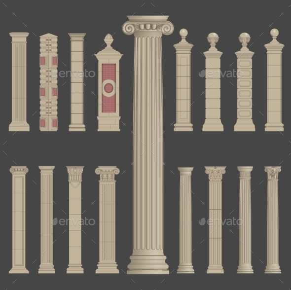GraphicRiver Pillar Column Roman Greek Architecture 10498790