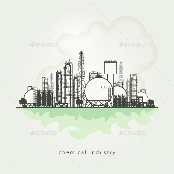 GraphicRiver Chemical Plant 10498791