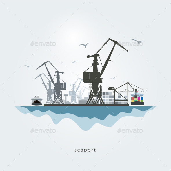 GraphicRiver Seaport 10498864