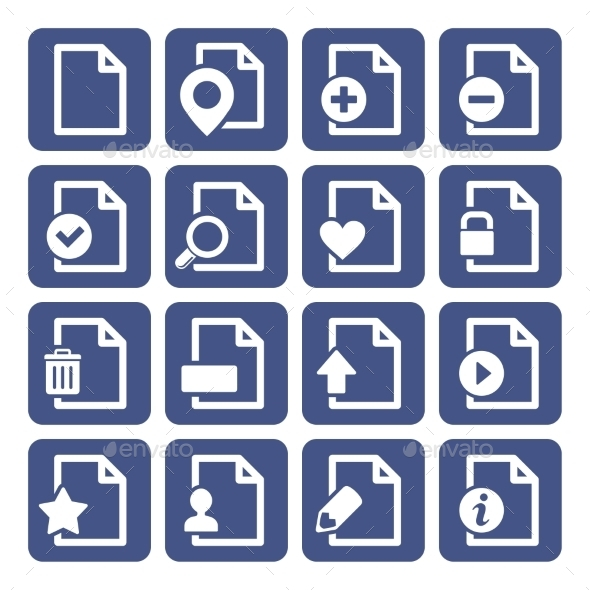 GraphicRiver File Management Icons Set 10498866