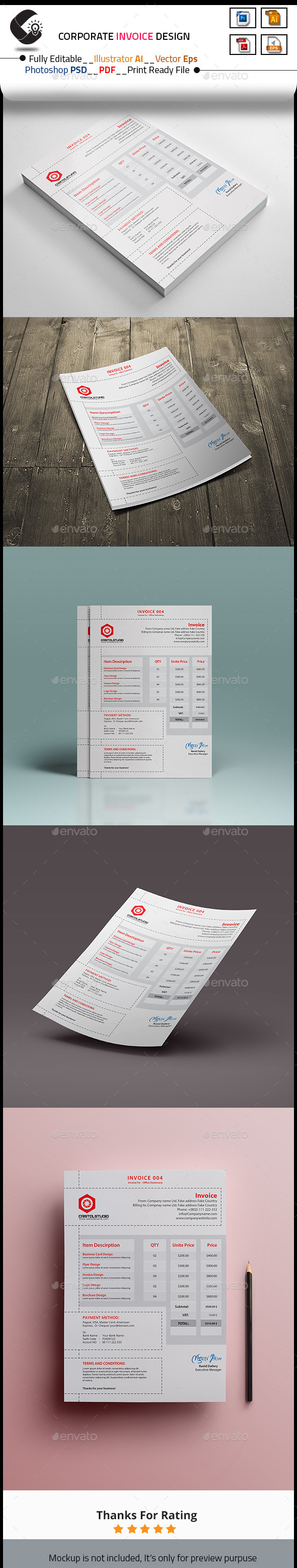 GraphicRiver Invoice 10498867