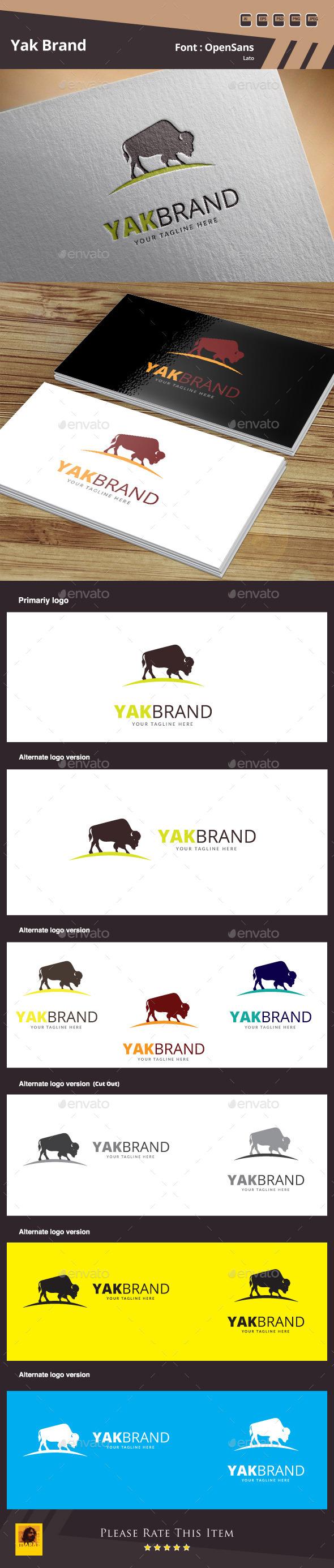 GraphicRiver Yak Brand Logo Template 10499069