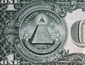 Annuit coeptis motto and the Eye of Providence. One dollar bill - PhotoDune Item for Sale