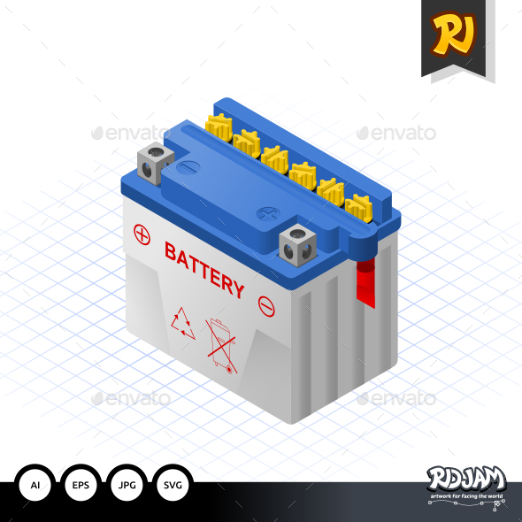 GraphicRiver Isometric Wet Battery 10499631