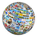 Globe, ball with various pictures of people, nature, objects, places - PhotoDune Item for Sale