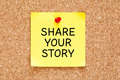 Share Your Story Post it Note - PhotoDune Item for Sale