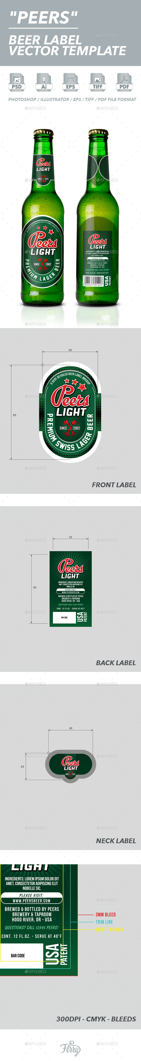 GraphicRiver Beer Label Vector Template 10457562