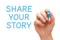 Share Your Story Blue Marker - PhotoDune Item for Sale