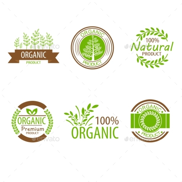GraphicRiver Round Eco Green Stamp Labels 10501737