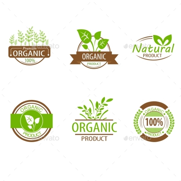 GraphicRiver Round Eco Green Stamp Labels 10501774