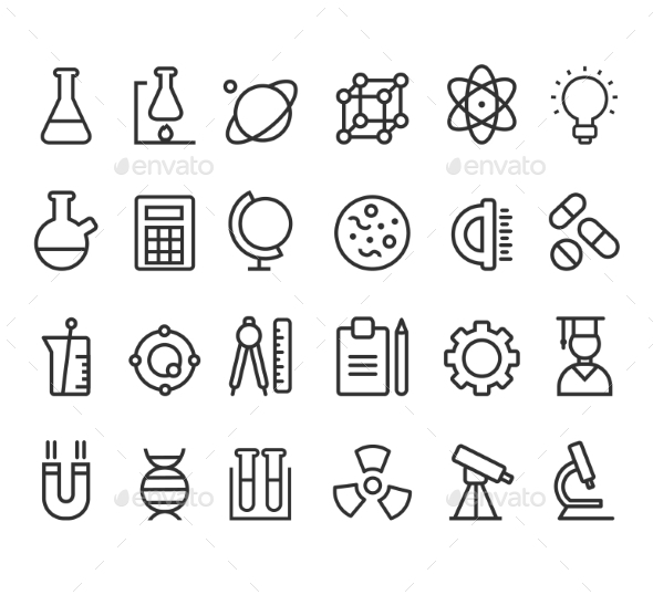 GraphicRiver Science Icons 10501777