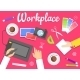 Workplace Concept - GraphicRiver Item for Sale