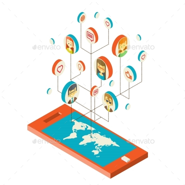 GraphicRiver Conceptual Image with Social Networks 10502046