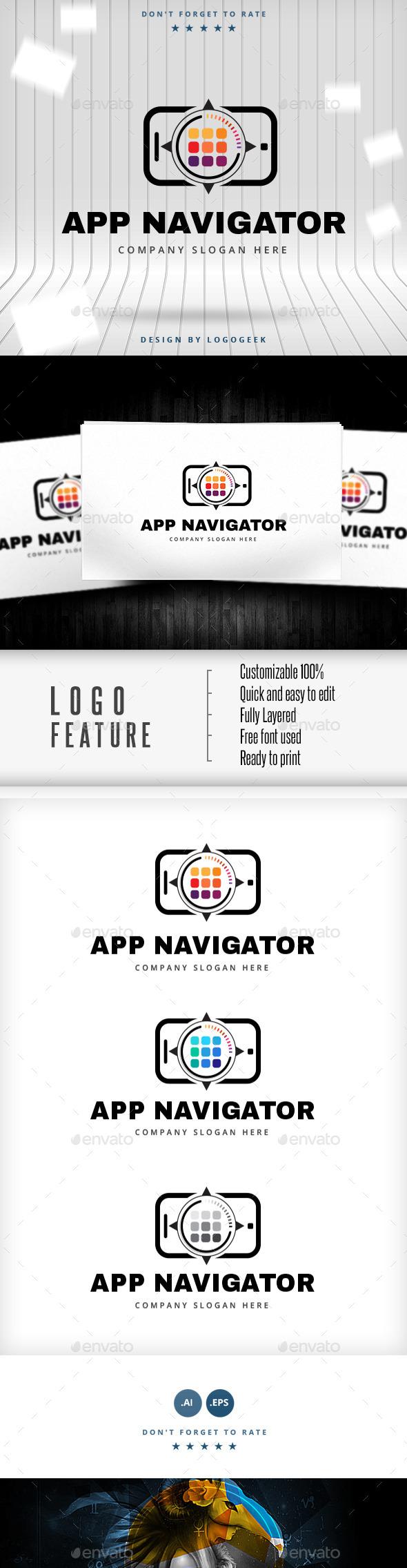 GraphicRiver App Navigator Logo 10502058