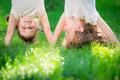 Happy children standing upside down - PhotoDune Item for Sale
