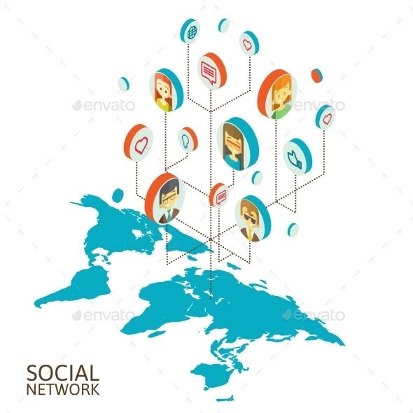 GraphicRiver Conceptual Image with Social Networks 10502069