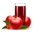 Glass of pomegranate juice with fruit.  - PhotoDune Item for Sale